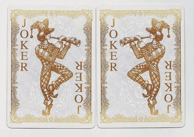 Bicycle Gold Playing Card Jokers