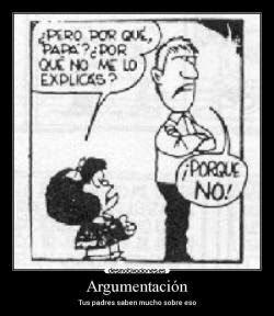 Viñeta de Mafalda, argumentación