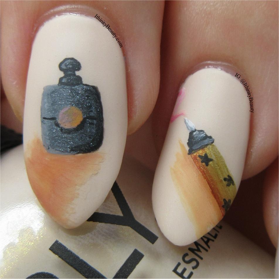 Yves Saint Laurent Freehand Nail Art Design   IthinityBeauty.com ...