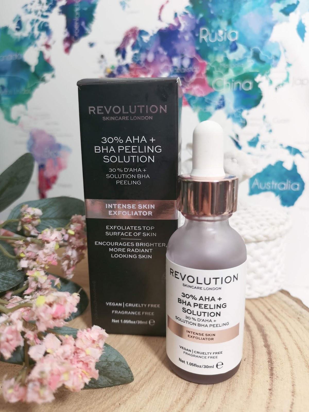 Exfoliante químico 30% AHA + BHA Peeling Solution de Revolution Skincare
