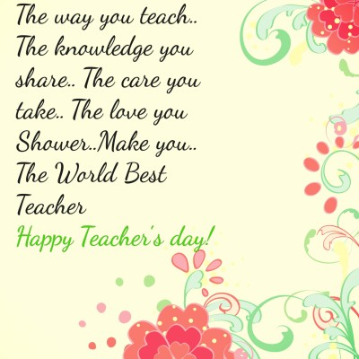 Teacher's Day Quotes Images 17