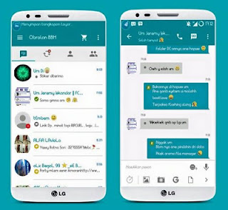 Free Sticker BBM Theme LightTeal v 2.9.0.51 Apk