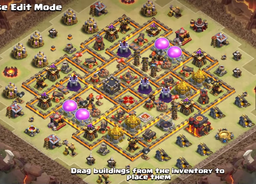 best town hall 10 war base anti 3 stars