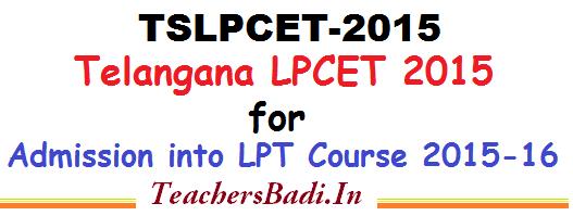 TS LPCET 2016, LPCET,Pandit Training Admissions