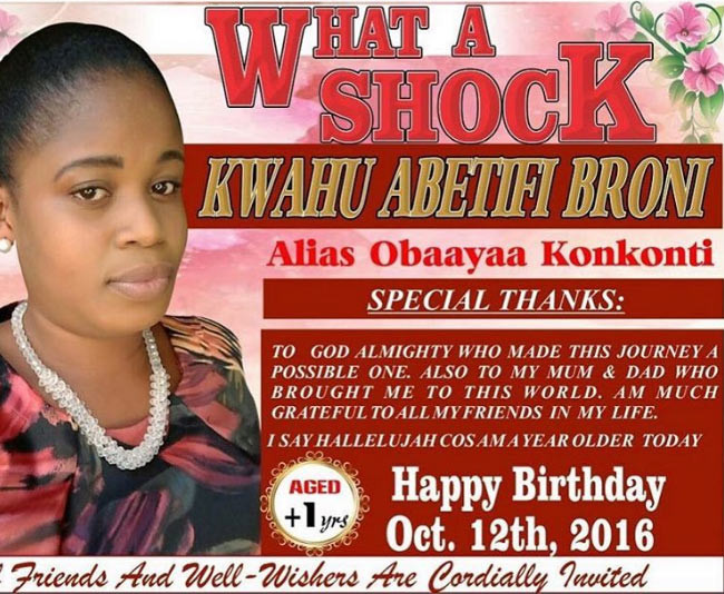 What is wrong with this Ghanaian woman's poster?