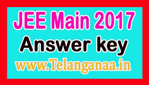 JEE Main Answer key Download
