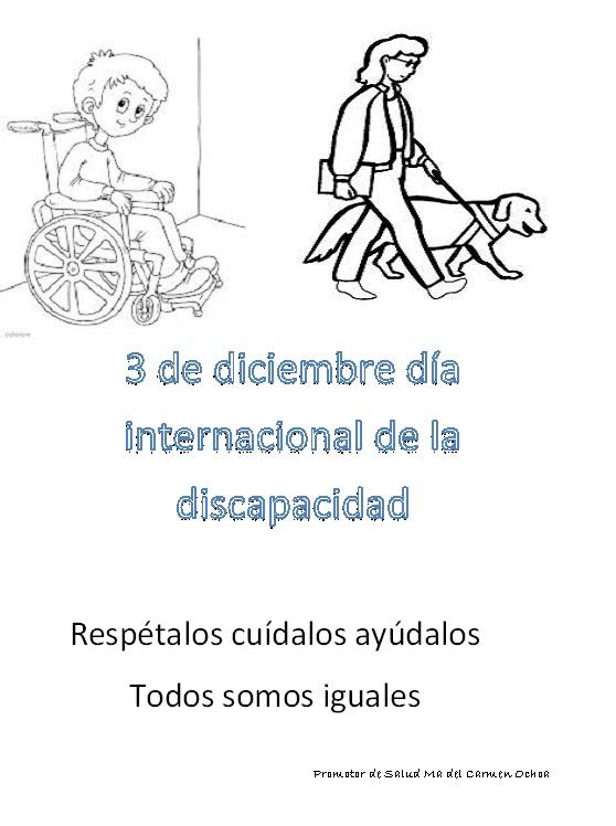 Escuela Y Salud Dibujo Para Colorear Discapacidad