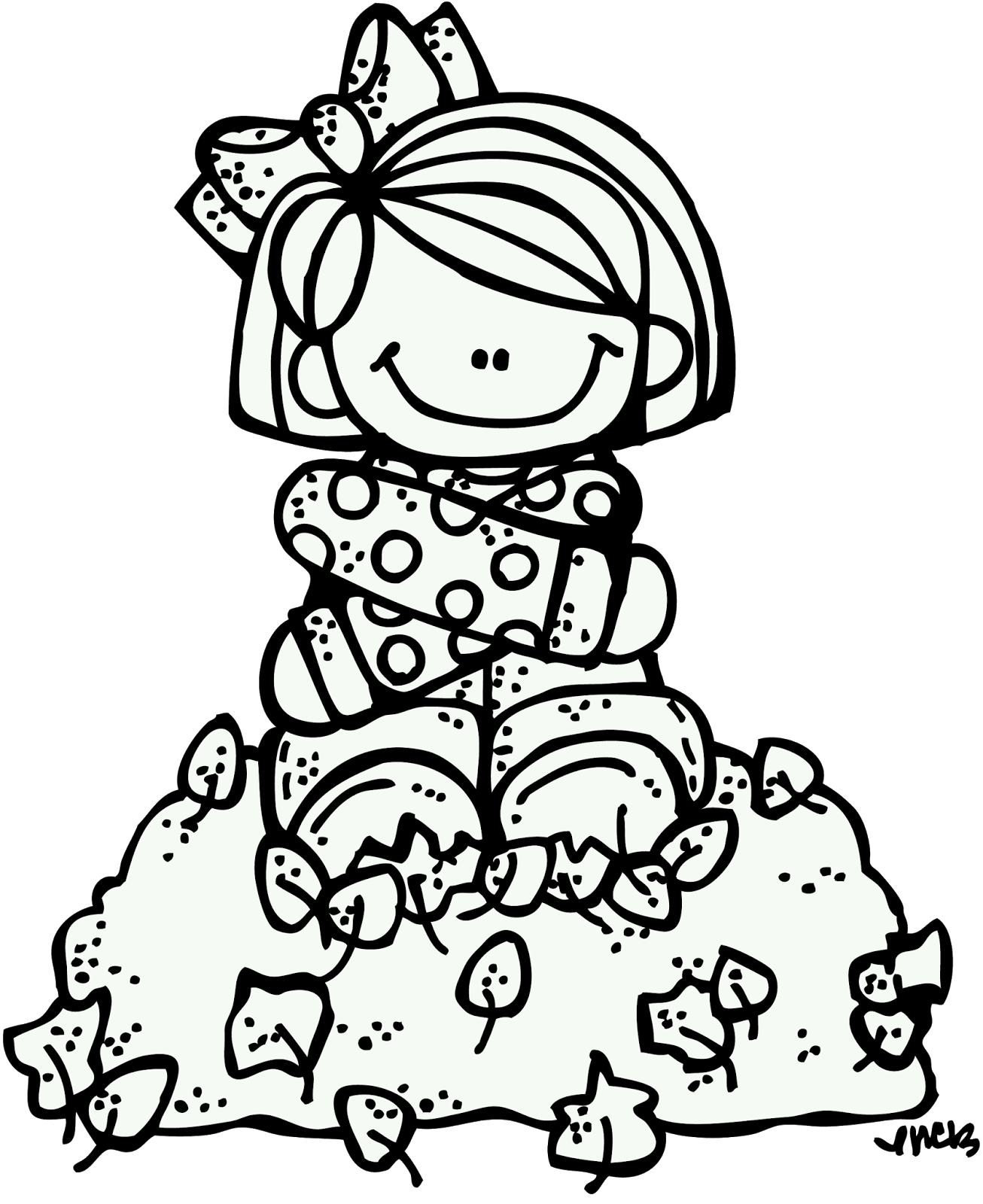 fall leaves clip art coloring pages - melonheadz happy fall my friends