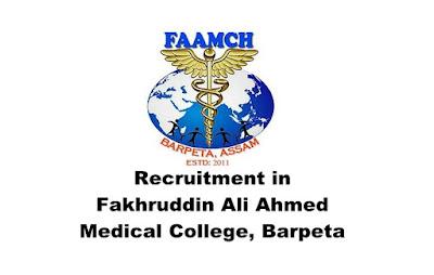 Lab Technician/Lab Assistant/Data Entry Operator Recruitment in FAA Medical College Barpeta. Walk-in Date: 07.03.2019