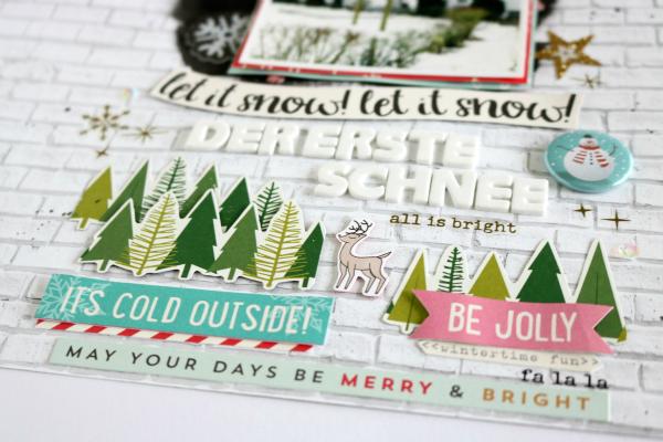 Der erste Schnee | Scrapbooking Layout für die Adventswerkstatt | Dezember-Kit der Scrapbook Werkstatt