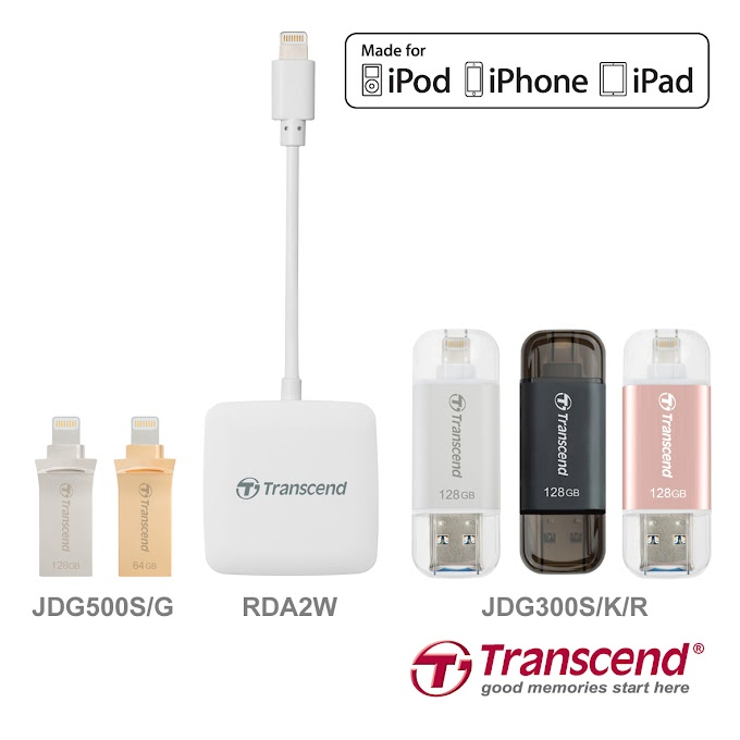 Transcend outs Lightning-enable Strorage Solutions for iOS Devices