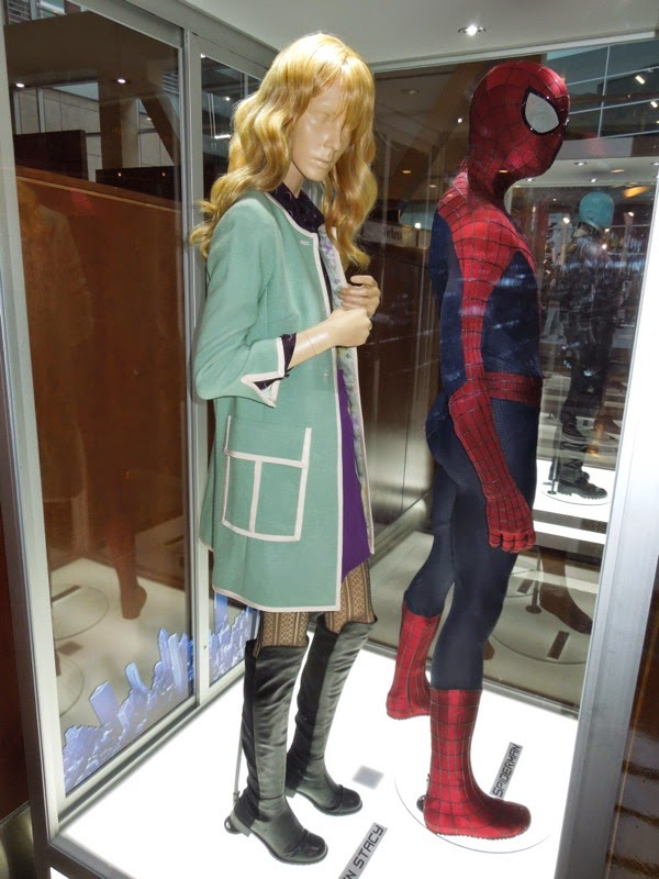 Emma Stone Gwen Stacy Amazing Spider-man 2 movie costume