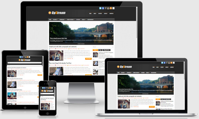 UpStream Responsive Blogger Templates