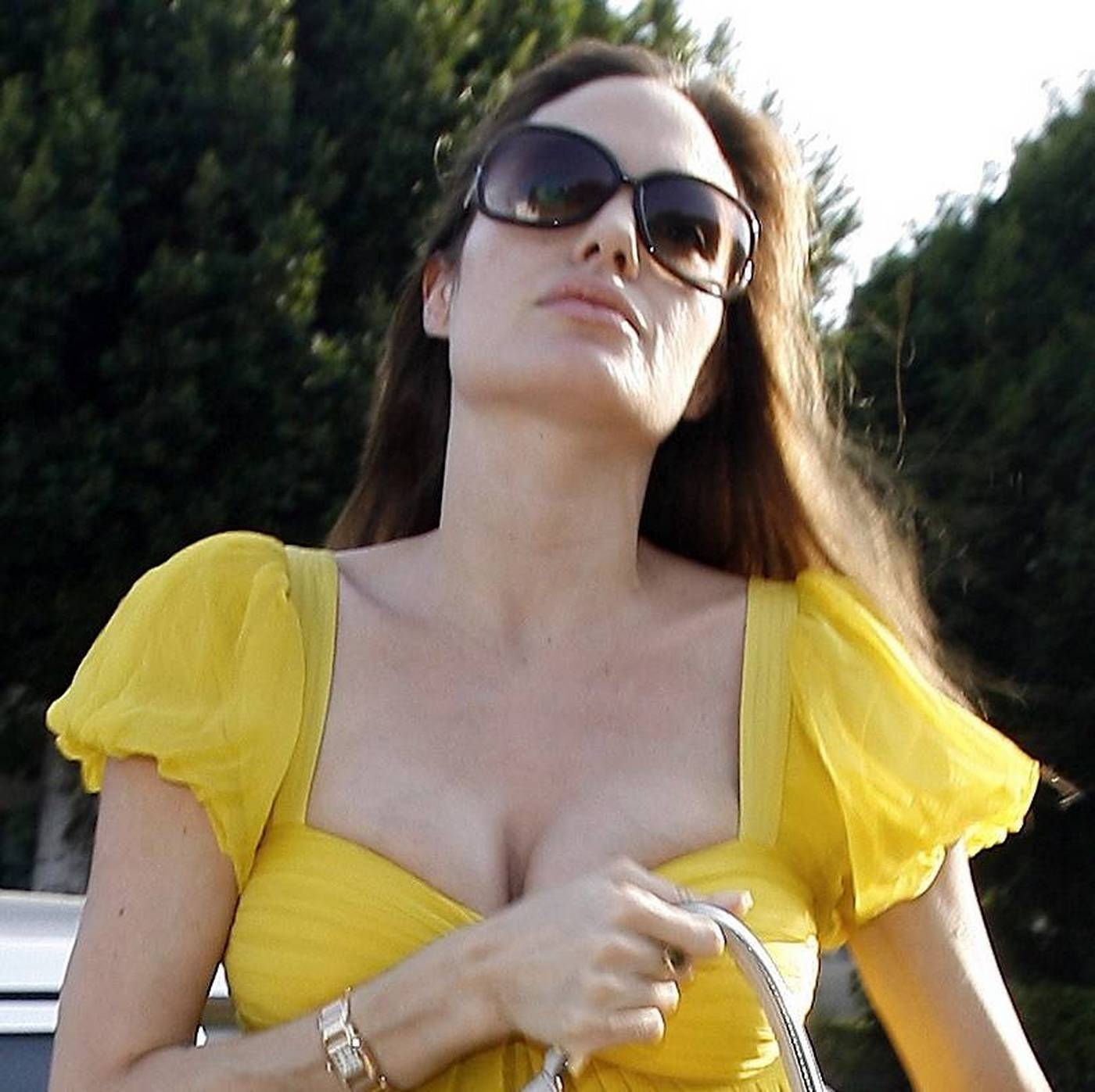 Angelina Jolie huge cleavage pictures ~ Hot Actress Sexy Pics