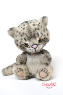 Ирбис тедди, авторский ирбис, снежный барс, леопард, artist teddy snow leopard, handmade teddy, teddies with charm, ooak teddy, NatalKa Creations, Natalie Lachnitt, Künstlerteddy, Künstler Irbis, Schneeleopard