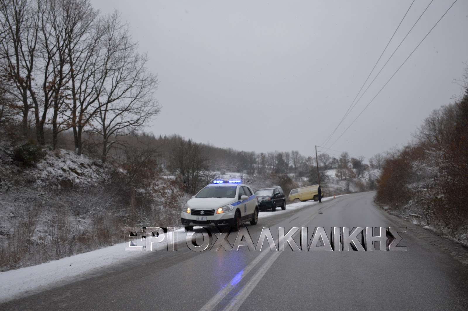 Μικροπροβλήματα στην κυκλοφορία από το χιόνι  (βίντεο φωτο)