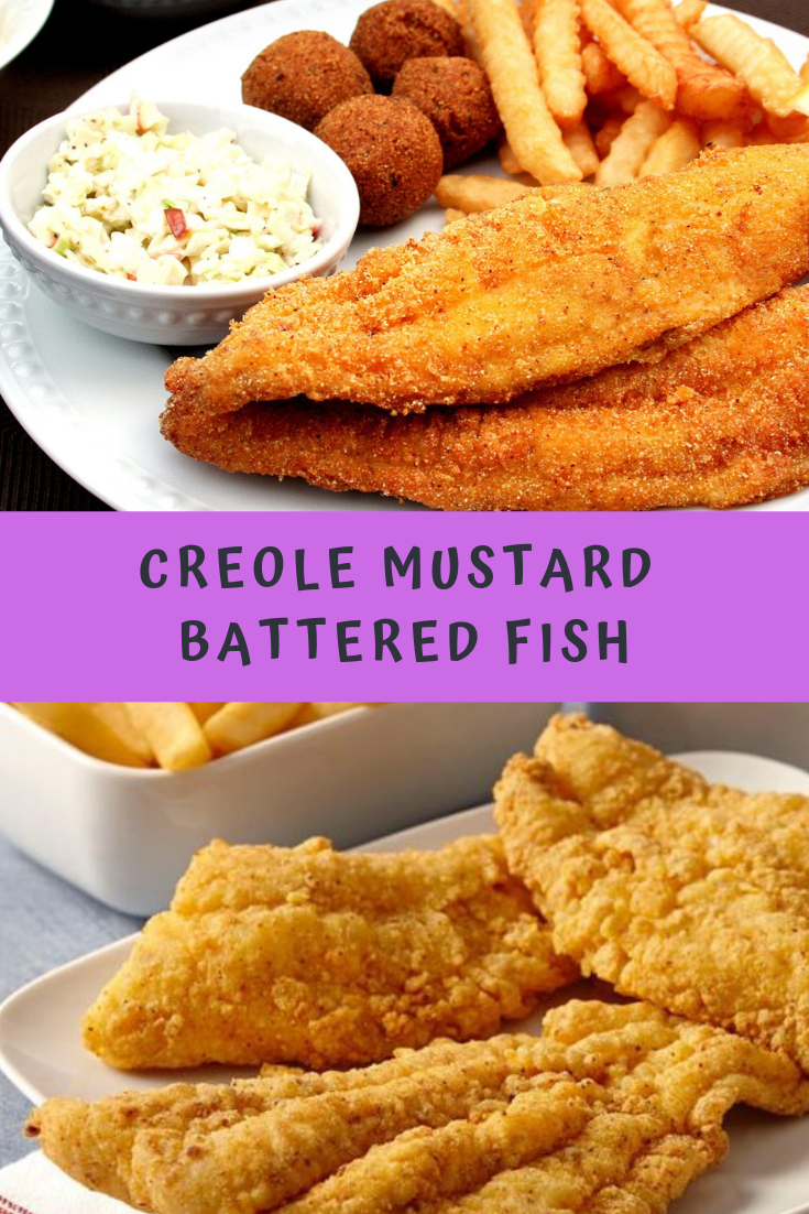 CREOLE MUSTARD BATTERED FISH RECIPE