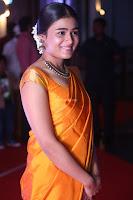 Shalini Pandey in Beautiful Orange Saree Sleeveless Blouse Choli ~  Exclusive Celebrities Galleries 036.JPG