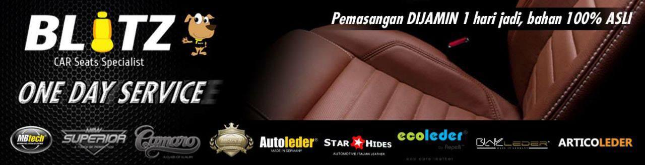 Sarung jok mobil Mbtech |  jok kulit autoleder |  BLITZ