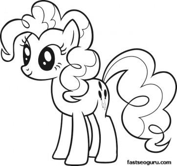 Kat nat pinkie pie pop art for Pinkie pie coloring page