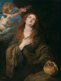 Saint Rosalia, as envisaged by Anthony Van Dyck in a 1625 representation