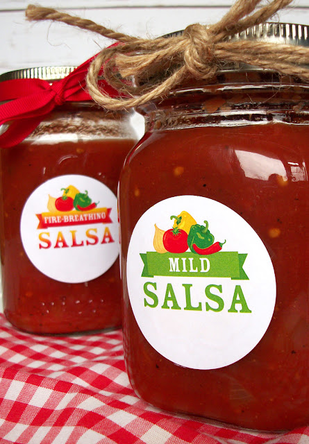salsa canning jar labels