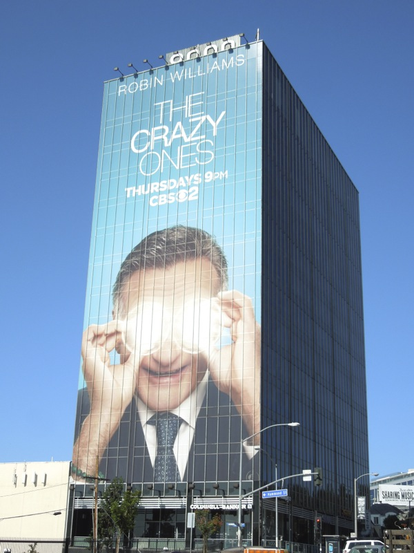 Robin Williams The Crazy Ones giant billboard