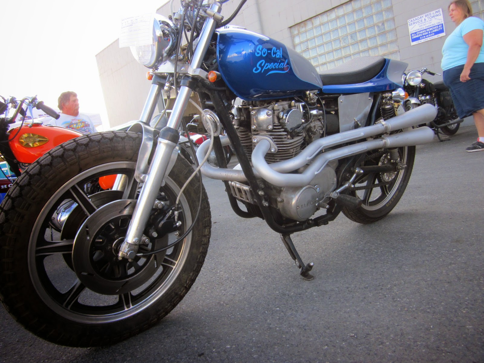 Oldmotodude  1980 Yamaha Xs650 Street Tracker On Display