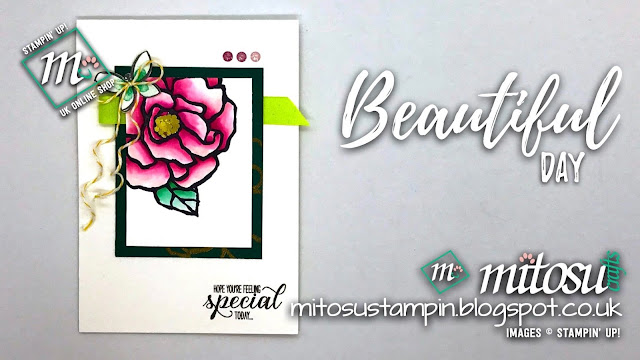 Stampin' Up! Beautiful Day SU Card Idea order craft products from Mitosu Crafts UK Online Shop