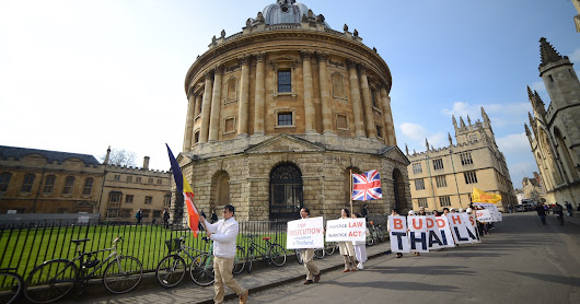Peace Vigil in Oxford for the People of Thailand