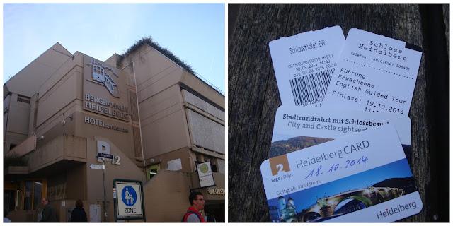 Ponto de partida do bondinho e entradas em Heidelberg