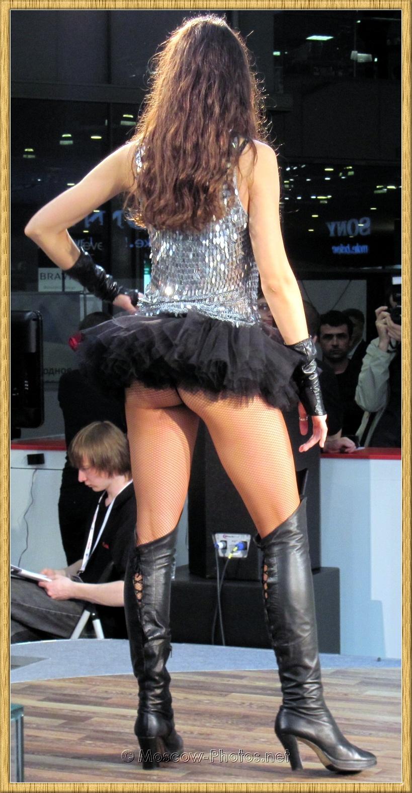 Moscow Model In Mini Skirt