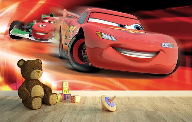 Voimakas Tapetti Disneyn Autot Valokuvatapetti Lastenhuone Tapetti