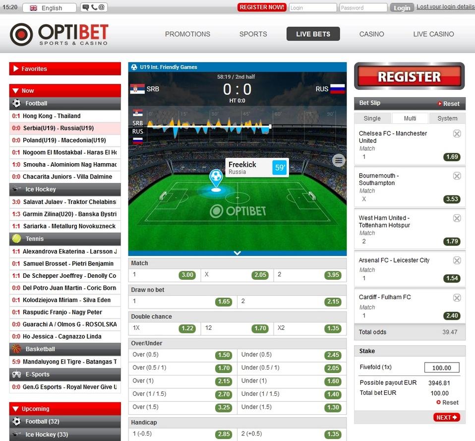 Optibet Screen