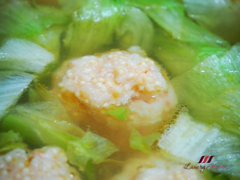 succulent tobiko prawn ball soup iceberg lettuce recipes