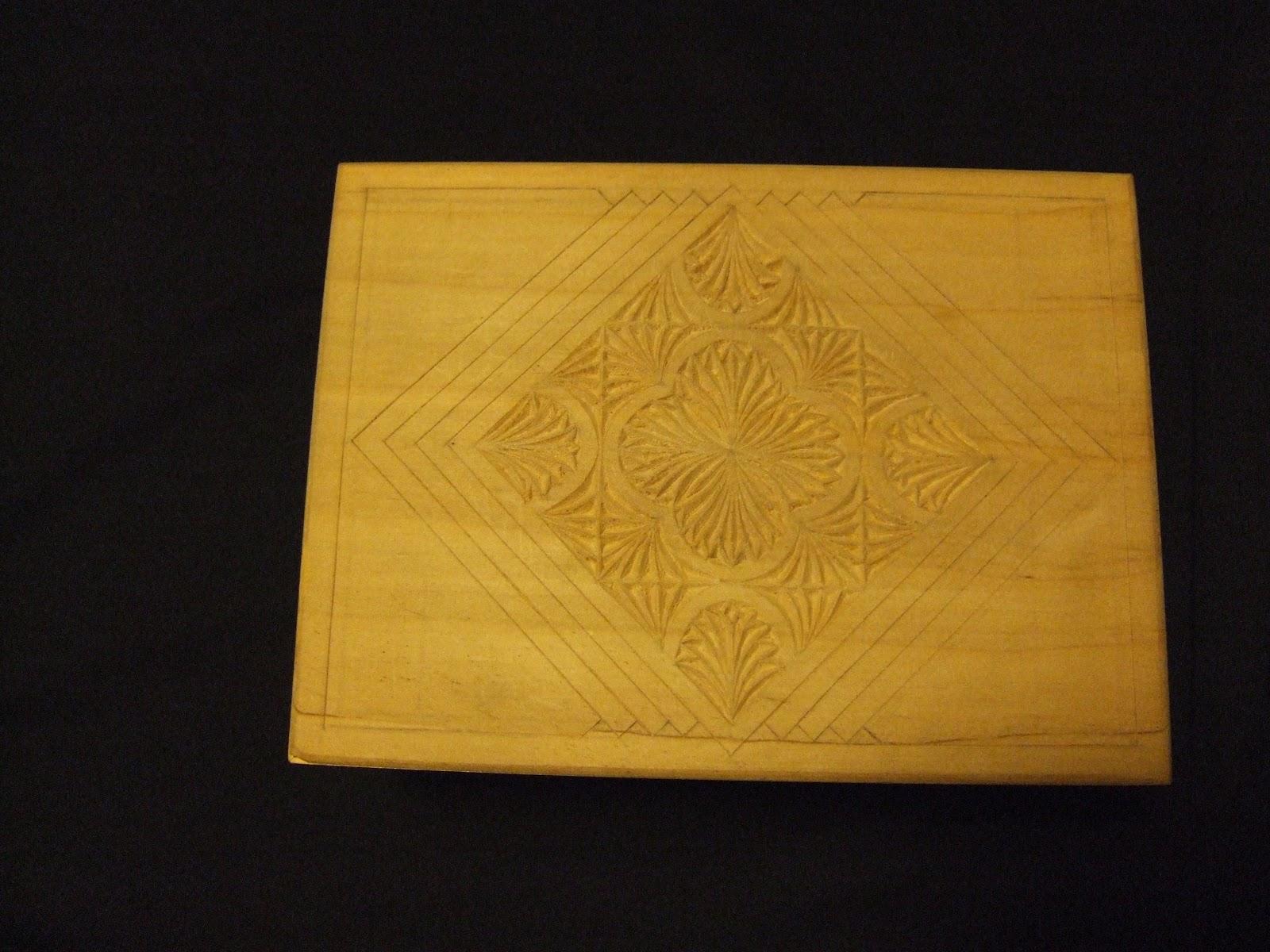 Chip carving intaglio del legno a coltello di rita