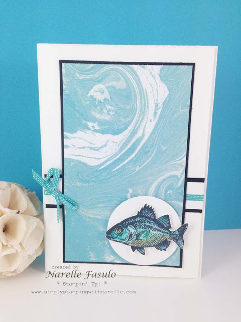 Perfectly Artistic Designer Series Paper with By The Tide for #GDP022 - Narelle Fasulo - Simply Stamping with Narelle- http://www3.stampinup.com/ECWeb/default.aspx?dbwsdemoid=4008228