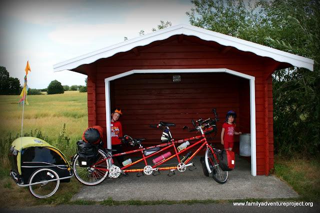 Bikes in Bus Stop Denmark