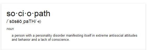 Defintion of sociopath