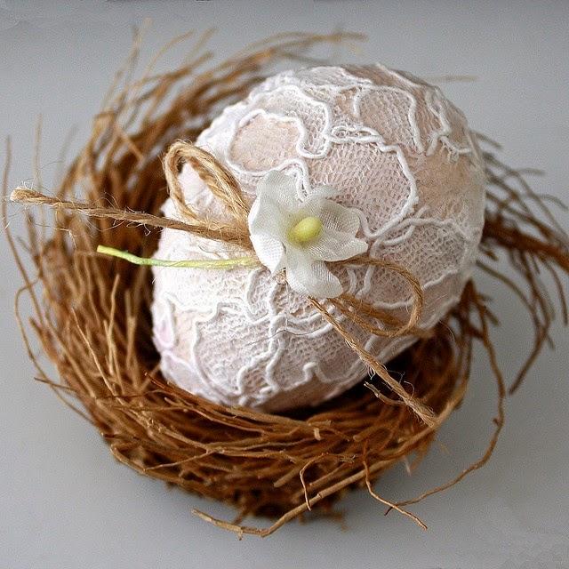 Happy Easter 2015 DIY Egg Decoration Ideas-Lace Eggs