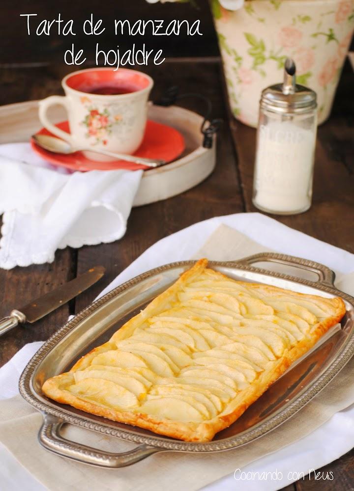 Cocinando con neus tarta f cil de hojaldre con manzanas y for Cocinando 1000 huevos