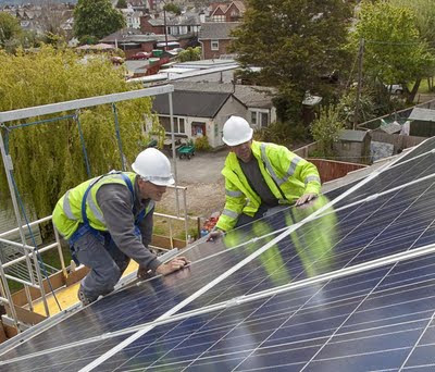 Installing solar PV modules on a home