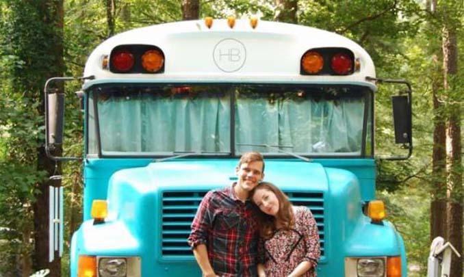 Δείτε την εκπληκτική μεταμόρφωση ενός παλιού σχολικού λεωφορείου σε σπίτι!