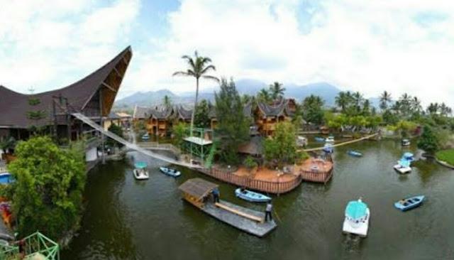 Wisata danau dariza hotel dan resort garut