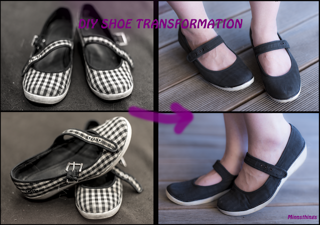 DIY repair fix old worn out broken old flat shoes make them look new