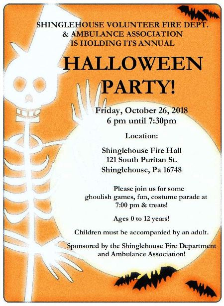 10-26 SVFD & Ambulance Association Annual Halloween Party
