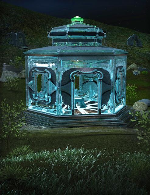 Glass Fairy House