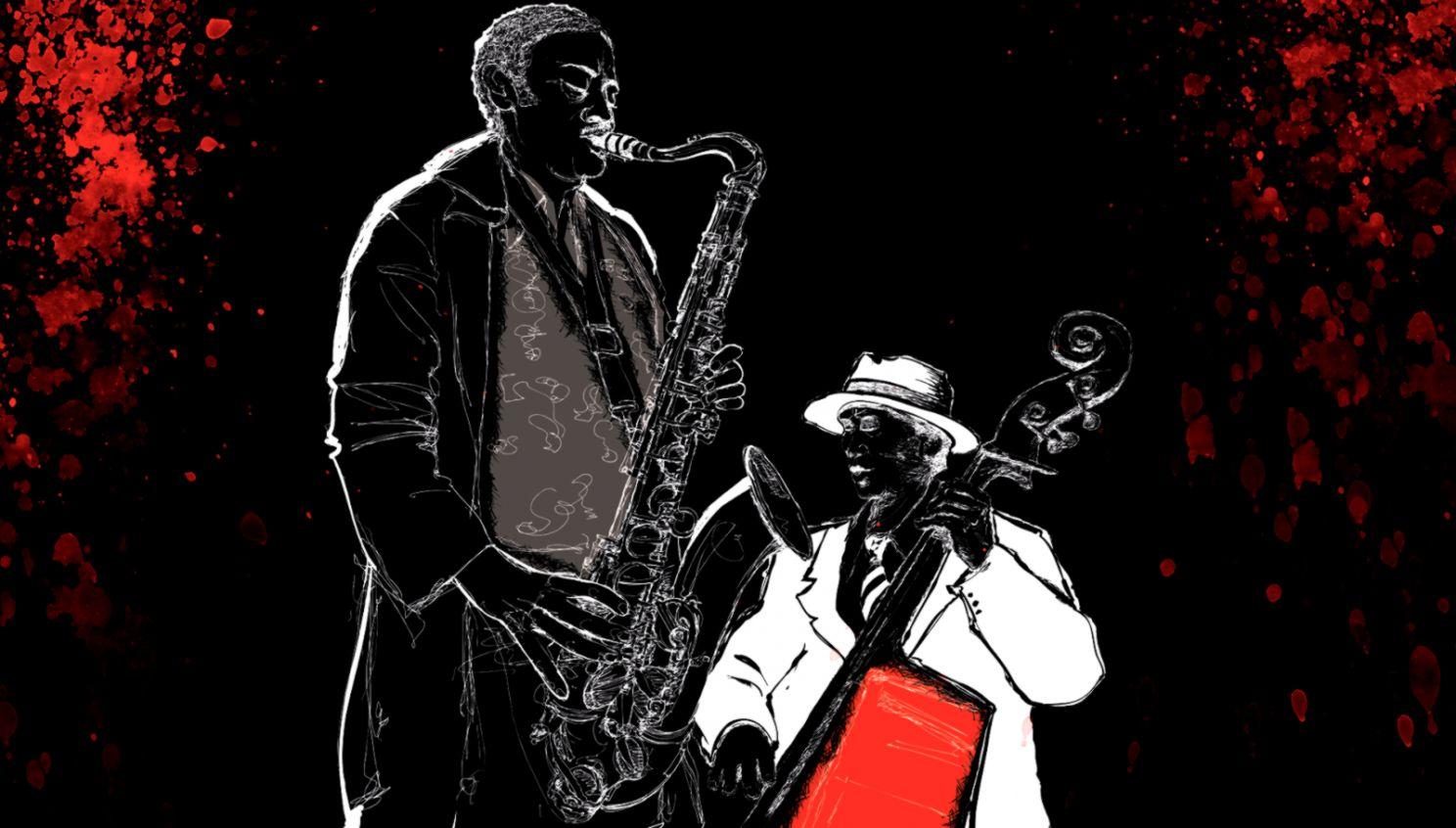 Bass Sax Jazz Music Wallpaper Free Wallpaper WallpaperLepi