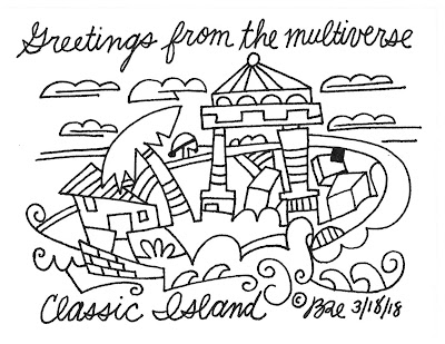 Greetings from the multiverse. Classic island.