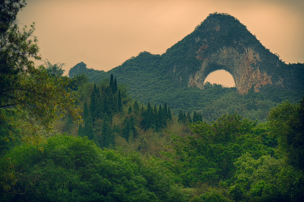 The Amazing World Moon Hill Natural Arch Yangshuo